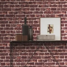 AS Creation House Brick Pattern Wallpaper Realistic Stone Effect Textured 306821