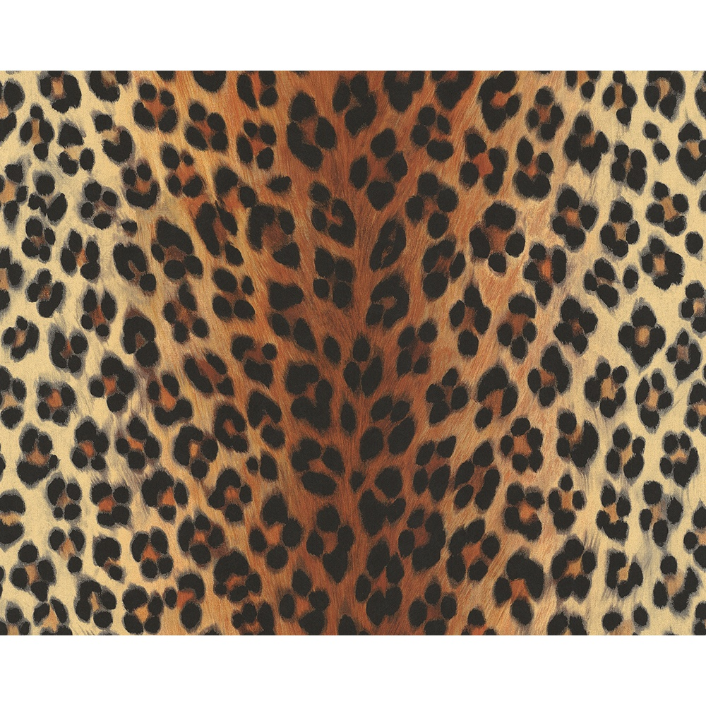 A S Creation As Creation Leopard Print Pattern Faux Animal Fur Textured Vinyl Wallpaper 663016