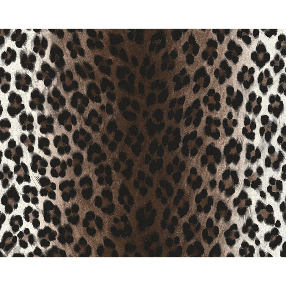 White Fur Wallpaper: AS Creation Leopard Print Pattern Faux Animal Fur Textured