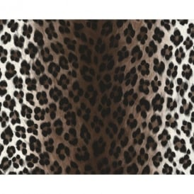 AS Creation Leopard Print Pattern Faux Animal Fur Textured Vinyl Wallpaper 663023