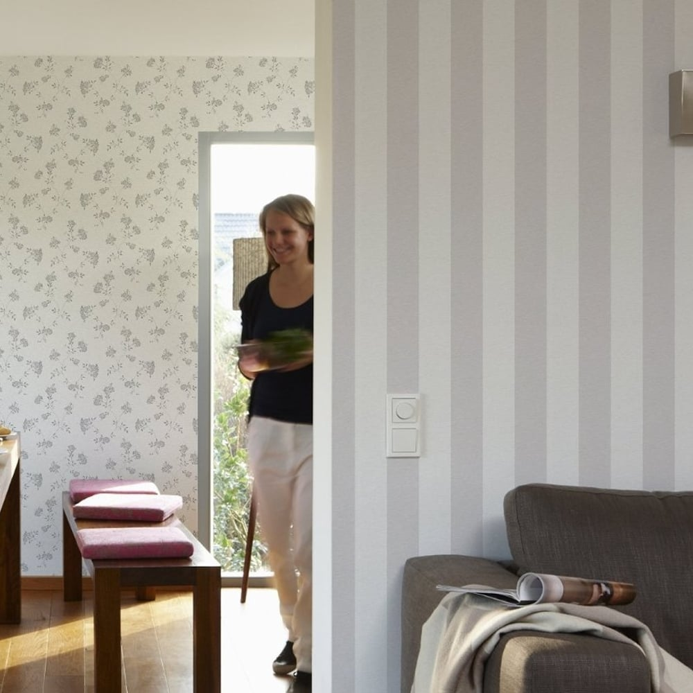 AS Creation Liberte Striped Pattern Pastel Colour Textured Wallpaper ...
