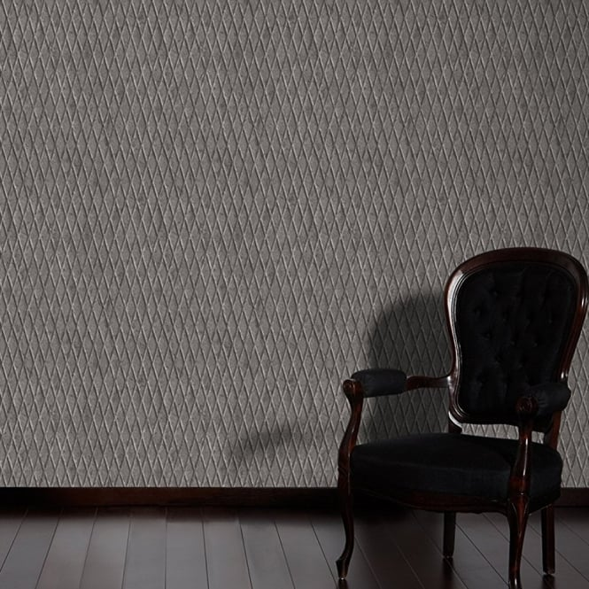 A.S. Creation AS Creation Metal Pattern Wallpaper Faux Effect Diamond Motif Embossed Vinyl 335481