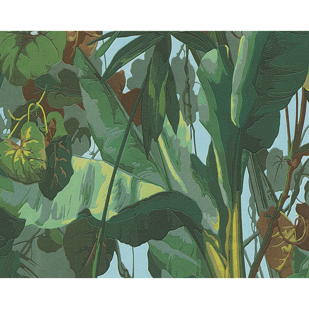 AS Creation Nature Embossed Leaf Pattern Floral Jungle Wallpaper