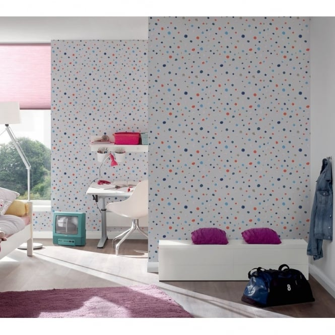 A.S. Creation AS Creation Oilily Spots Dots Pattern Paint Circles Motif Textured Wallpaper 961232