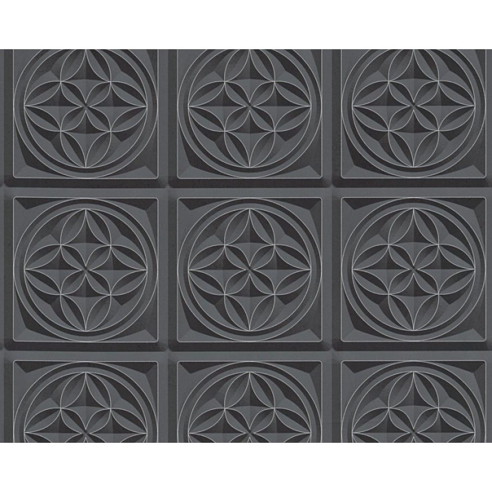 as creation oslo tile pattern wallpaper faux effect art deco kitchen bathroom 329801