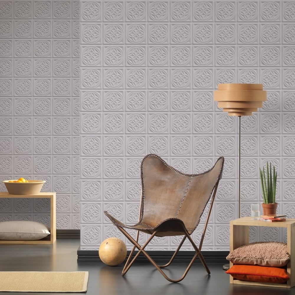 AS Creation Oslo Tile Pattern Wallpaper Faux Kitchen Bathroom 329802
