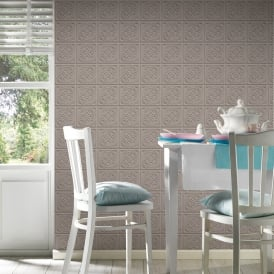 AS Creation Oslo Tile Pattern Wallpaper Faux Effect Art Deco Kitchen Bathroom 329803