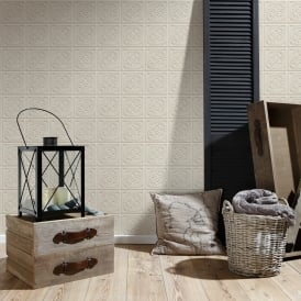 AS Creation Oslo Tile Pattern Wallpaper Faux Effect Art Deco Kitchen Bathroom 329804