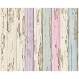 AS Creation Painted Wood Beam Pattern Realistic Embossed Vinyl Wallpaper 958832