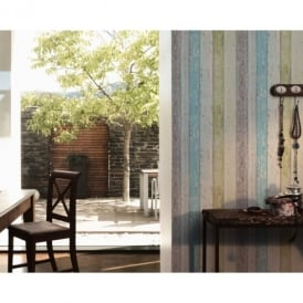 AS Creation Painted Wood Beam Wooden Panel Faux Effect Textured Wallpaper 855077