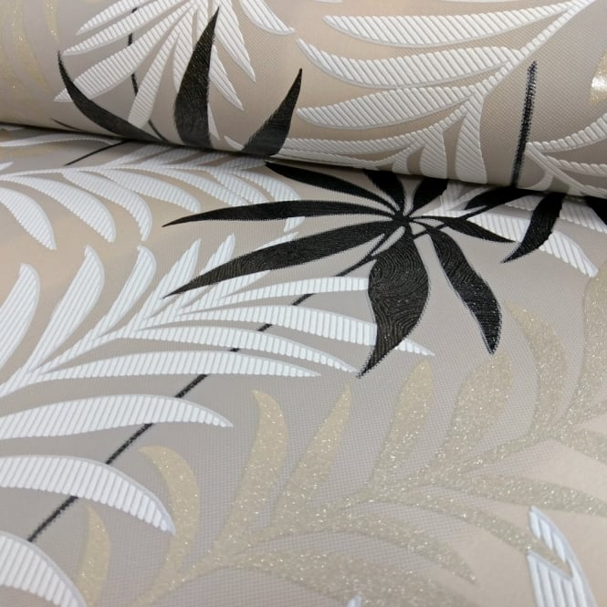 A.S. Creation AS Creation Palm Leaf Pattern Wallpaper Glitter Motif Modern Embossed Textured 324721