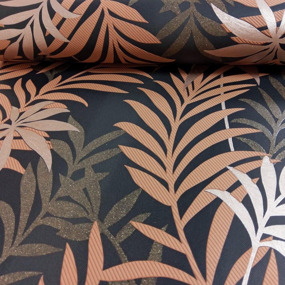 AS Creation Palm Leaf Pattern Wallpaper Glitter Motif ...