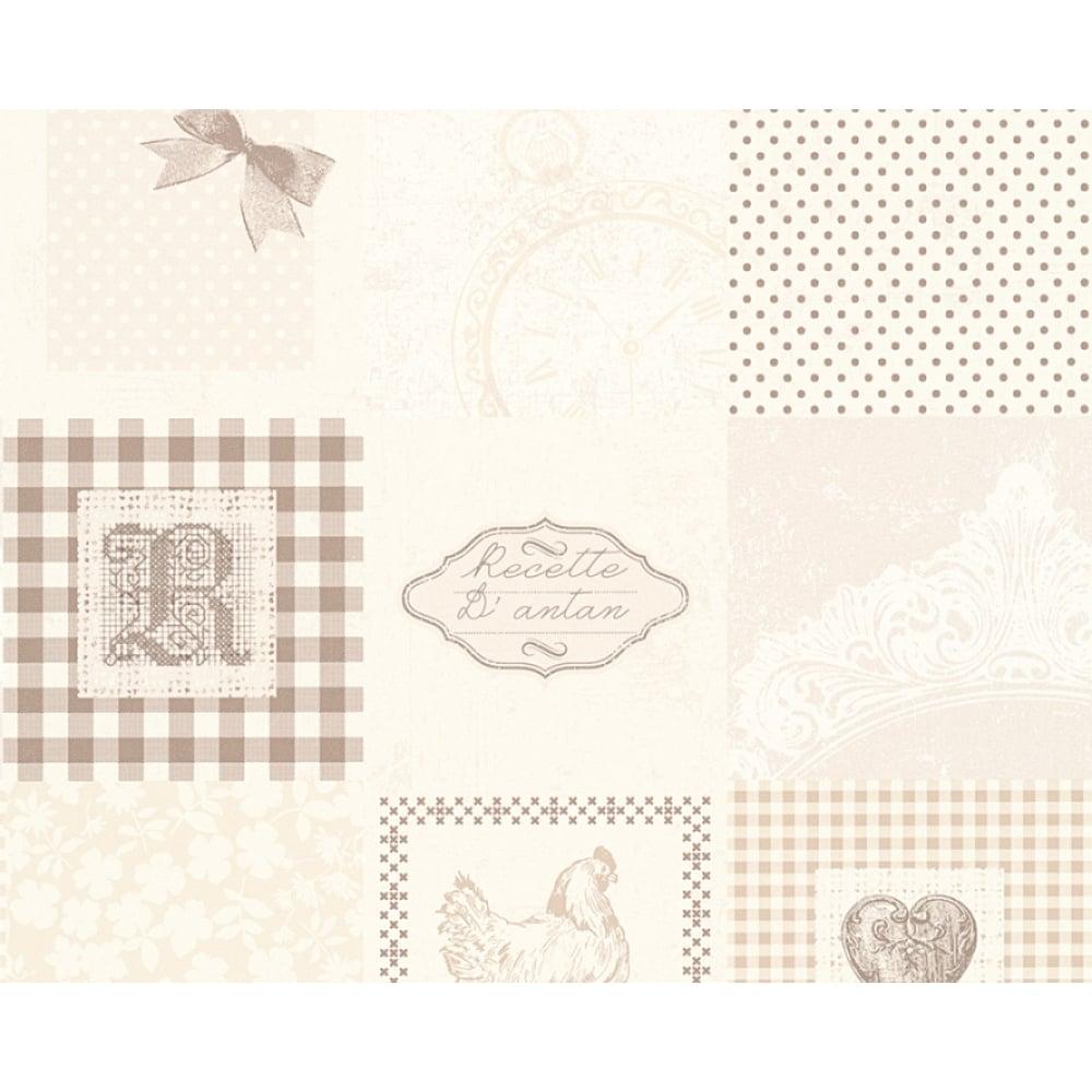 AS Creation Patchwork Pattern Wallpaper Kitchen Tartan PolkaDot 327323
