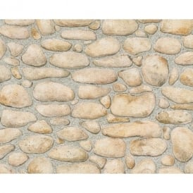 AS Creation Pebble Stone Pattern Embossed Textured Wallpaper 834515