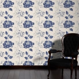 AS Creation Pure Floral Pattern Flower Leaf Motif Textured Vinyl Wallpaper 958812