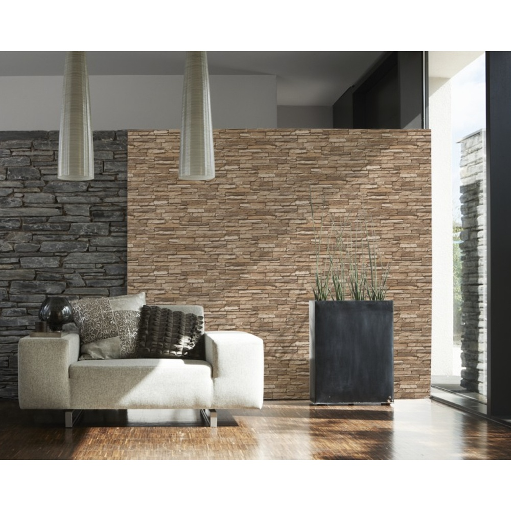 As creation slate brick pattern faux effect vinyl - Imitacion a ladrillo ...