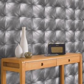 AS Creation Square Pattern Faux Leather Effect Non Woven Textured Wallpaper 959992