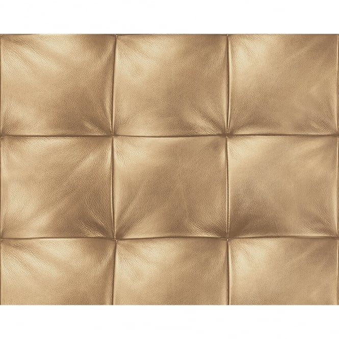 A.S. Creation AS Creation Square Pattern Faux Leather Effect Non Woven Textured Wallpaper 959993