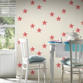 AS Creation Star Pattern Wallpaper Fabric Canvas Faux Effect Textured 351835
