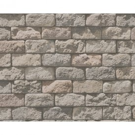 AS Creation Stone Brick Pattern Realistic Photo Embossed Vinyl Wallpaper 958342