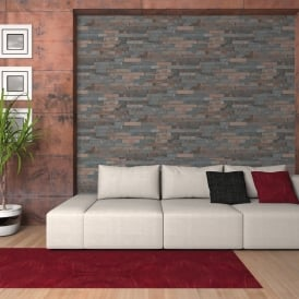 AS Creation Stone Brick Pattern Wallpaper Faux Effect Embossed Factory Motif 355823