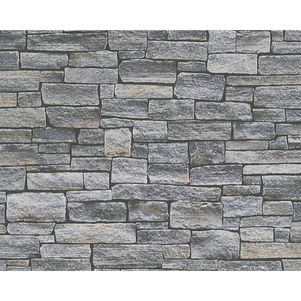 Stone Wall Pattern : As creation stone brick pattern faux effect vinyl