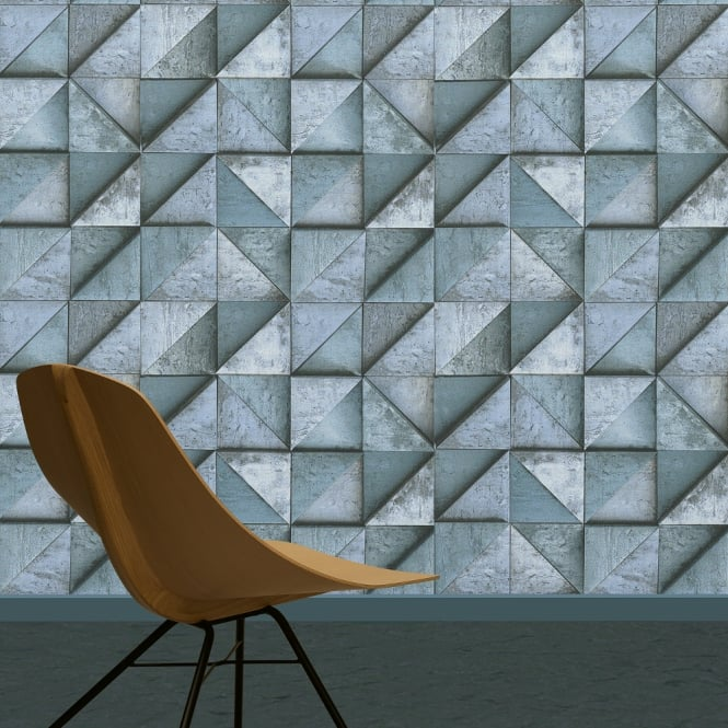 A.S. Creation AS Creation Stone Effect Wallpaper Triangle Square Pattern Realistic Textured 306503