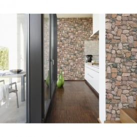 AS Creation Stone Wall Pattern Rustic Brick Textured Mural Wallpaper 692412