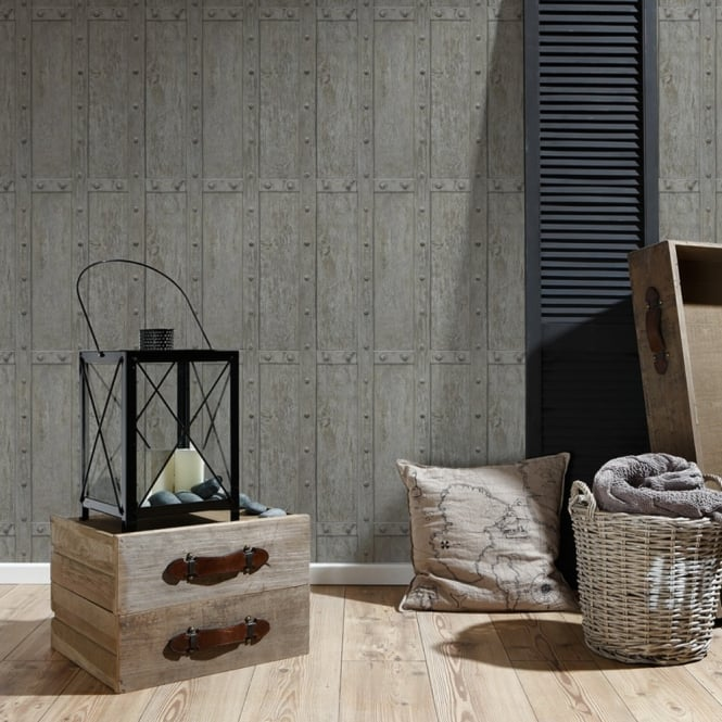 A.S. Creation AS Creation Vintage Wooden Panel Pattern Wallpaper Realistic Wood Textured 306842