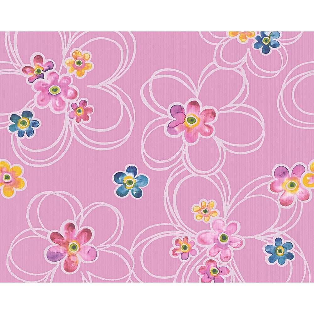 As creation water colour flower pattern metallic floral motif as creation water colour flower pattern metallic floral motif wallpaper 304602 mightylinksfo