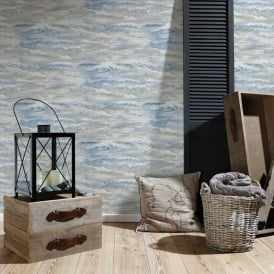 AS Creation Wave Pattern Wallpaper Sea Surf Water Motif Embossed Textured 354092