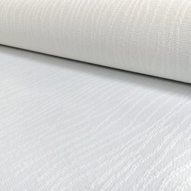AS Creation White Paintable Wallpaper String Pattern Embossed Stripe 508911