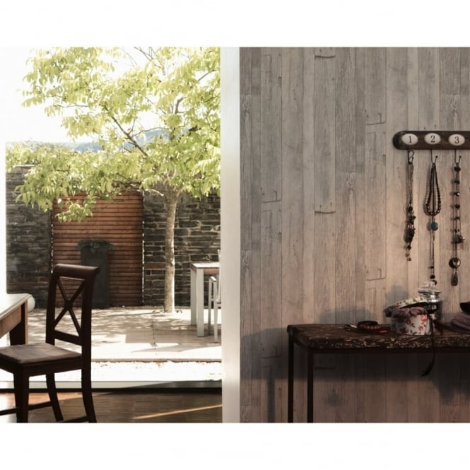 A.S. Creation AS Creation Wood Beam Pattern Faux Effect Textured Non Woven Wallpaper 959311