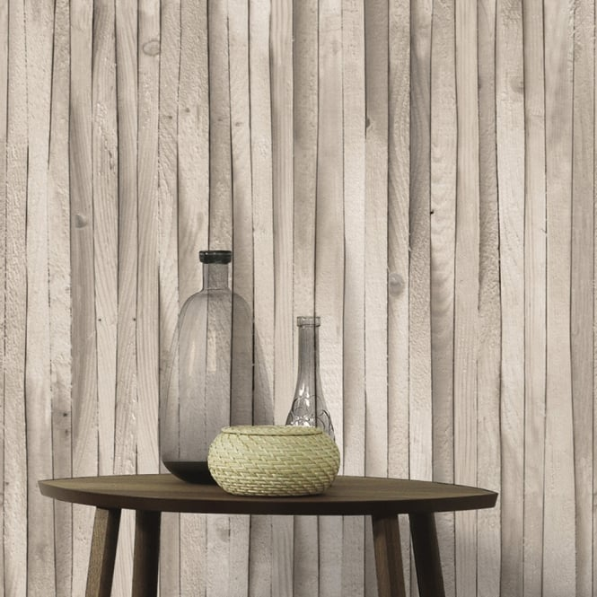 A.S. Creation AS Creation Wooden Beam Pattern Wallpaper Wood Faux Effect Textured 307481