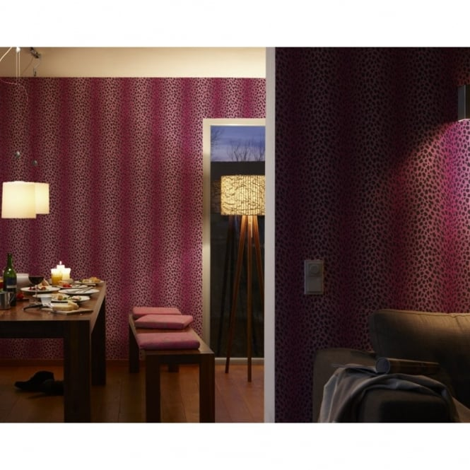 A.S. Creation Chicago Leopard Skin Fur Print Pattern Textured Vinyl Wallpaper 935303
