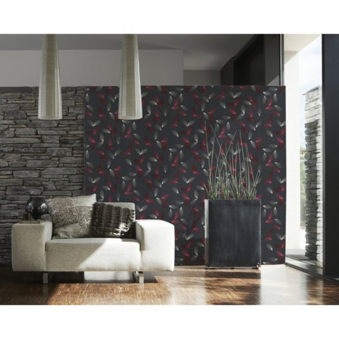 A.S. Creation Floral Leaf Pattern Traditional Textured Vinyl Wallpaper 937533