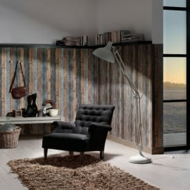 A.S. Creation Wood N Stone Wooden Beam Effect Textured Wallpaper 908612
