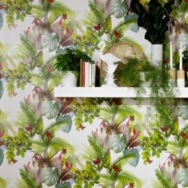Arthouse Amazonia Butterfly Pattern Wallpaper Forest Leaf Motif Embossed 690300