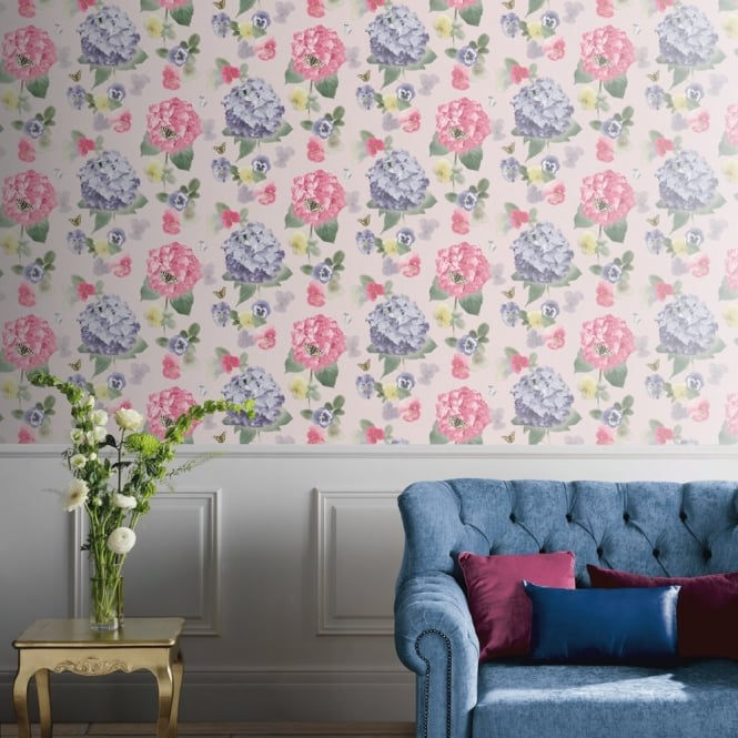 Arthouse Annabelle Flower Pattern Butterfly Floral Motif Wallpaper 661900