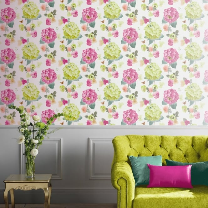 Arthouse Annabelle Flower Pattern Butterfly Floral Motif Wallpaper 661901