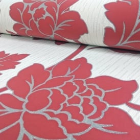 Arthouse Anya Rose Flower Pattern Wallpaper Embossed Floral Glitter Motif 886104