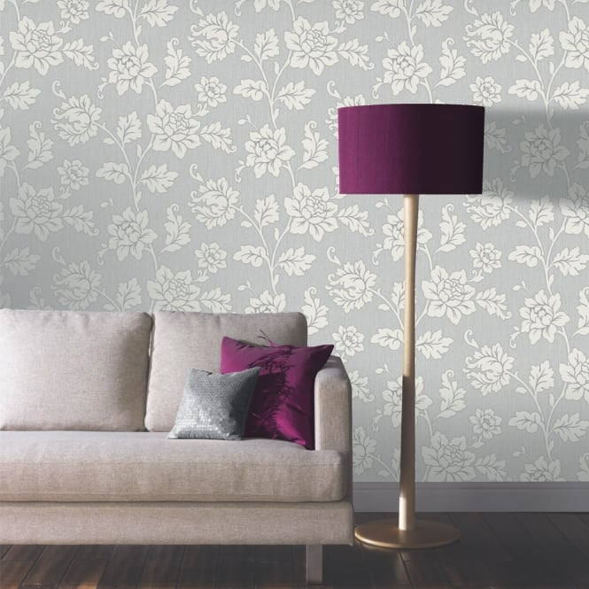 Arthouse Anya Rose Flower Pattern Wallpaper Embossed Floral Glitter Motif 886101