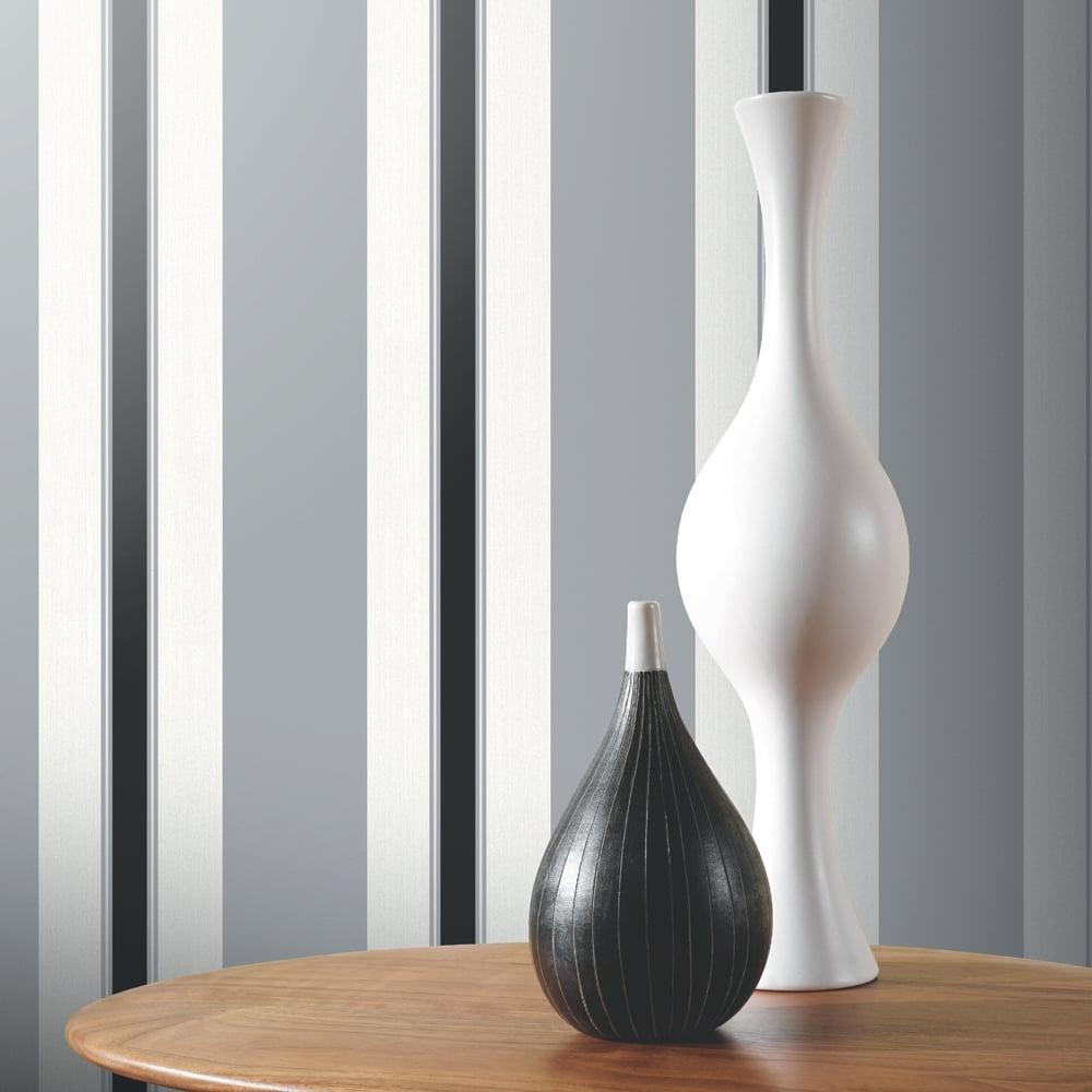 Arthouse anya stripe pattern wallpaper modern vinyl for Modern vinyl wallpaper