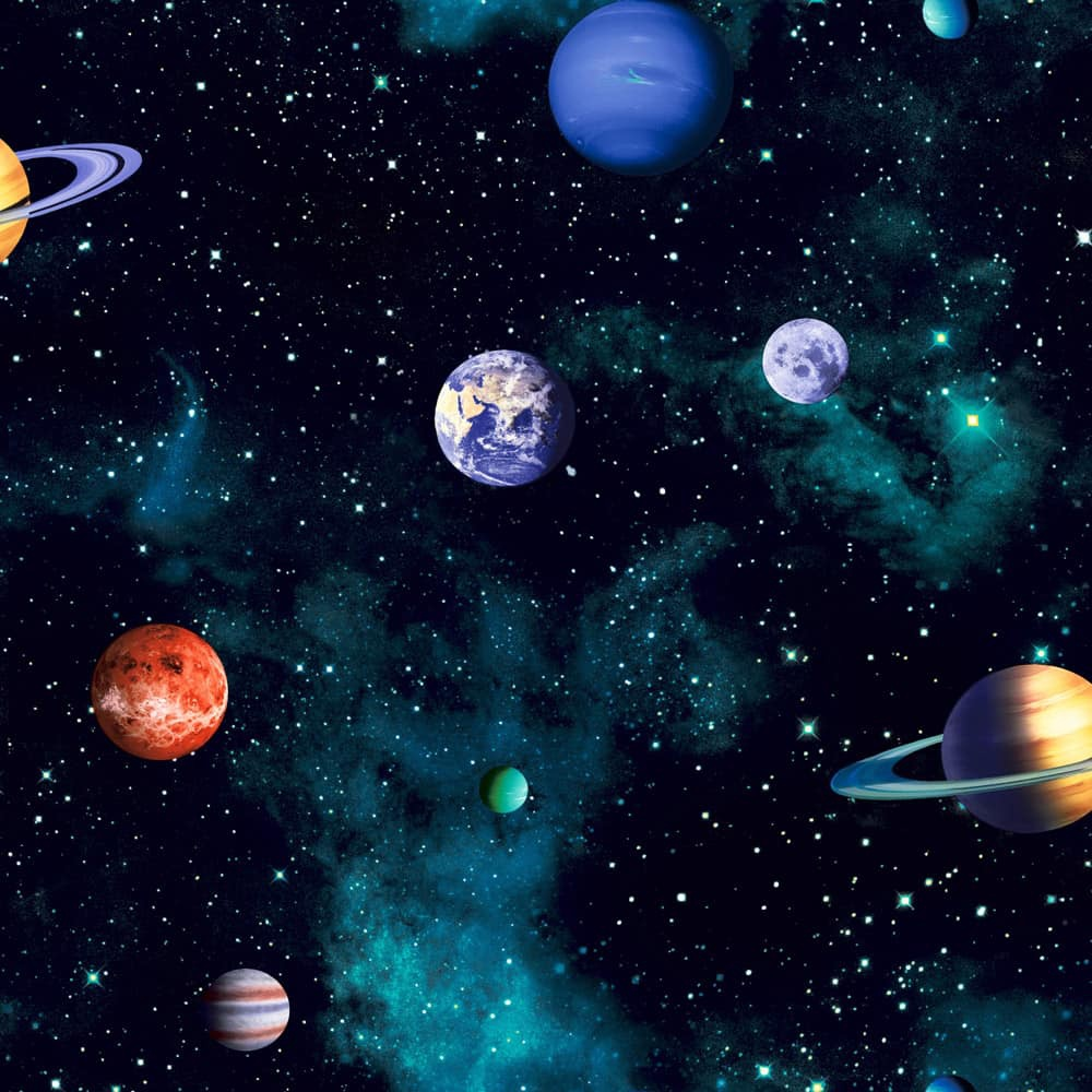 arthouse arthouse cosmos space pattern planets earth childrens wallpaper 668100 p3024 6482 image - Heelal Behang