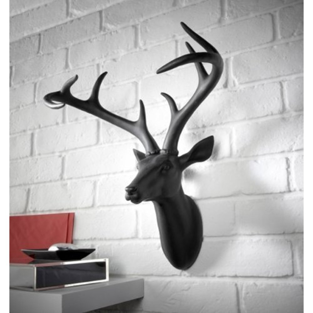 arthouse deer stag head decorative mounted resin wall art
