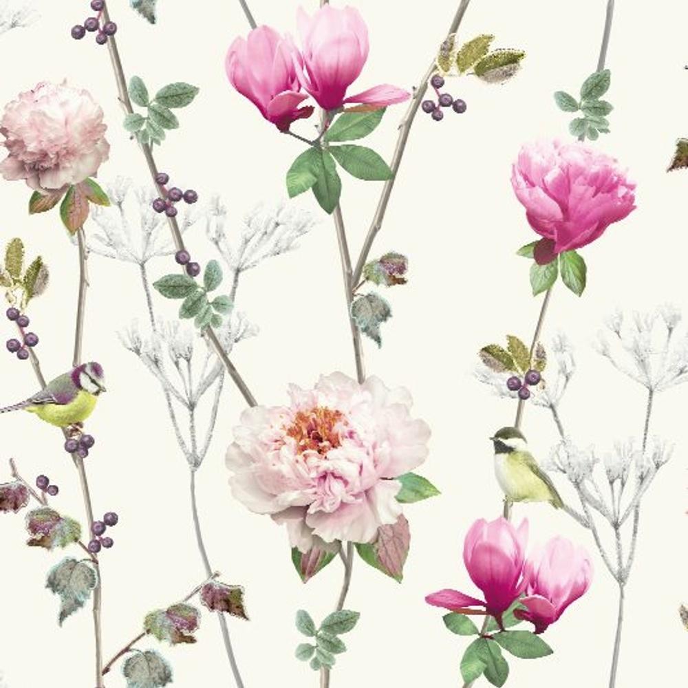 arthouse ella floral pattern bird rose flower motif. Black Bedroom Furniture Sets. Home Design Ideas