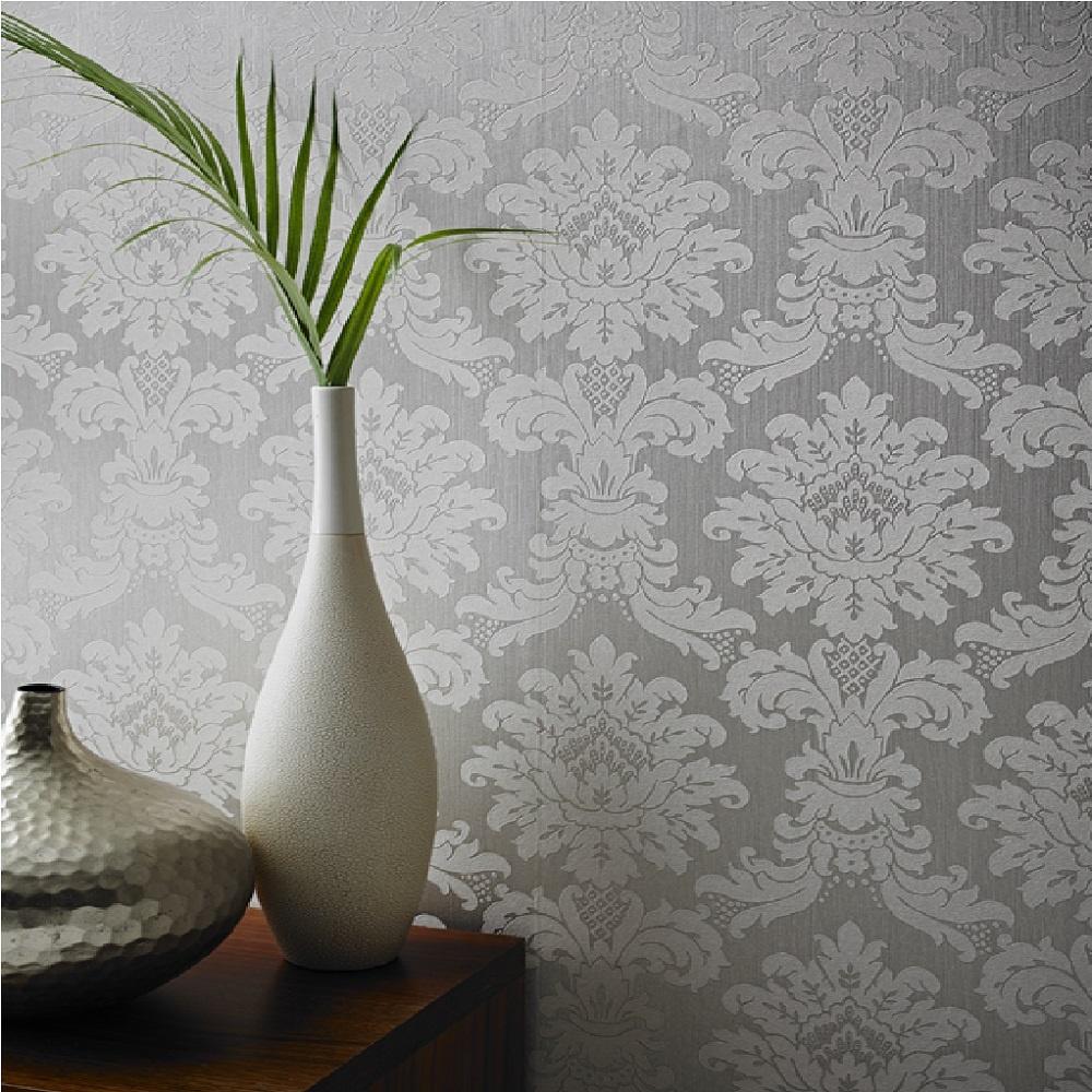 Arthouse messina damask heavyweight vinyl textured - Art house wallpaper uk ...