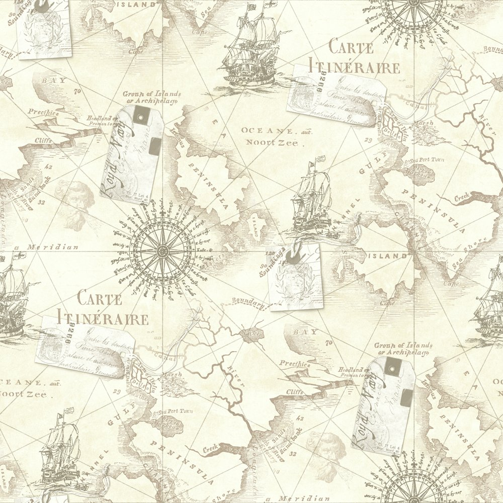 Desktop Wallpaper World Map: Nautical Map Desktop Wallpaper