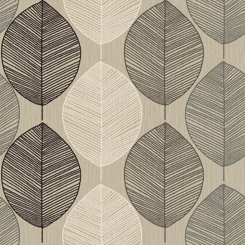 arthouse retro leaf pattern leaves motif designer. Black Bedroom Furniture Sets. Home Design Ideas