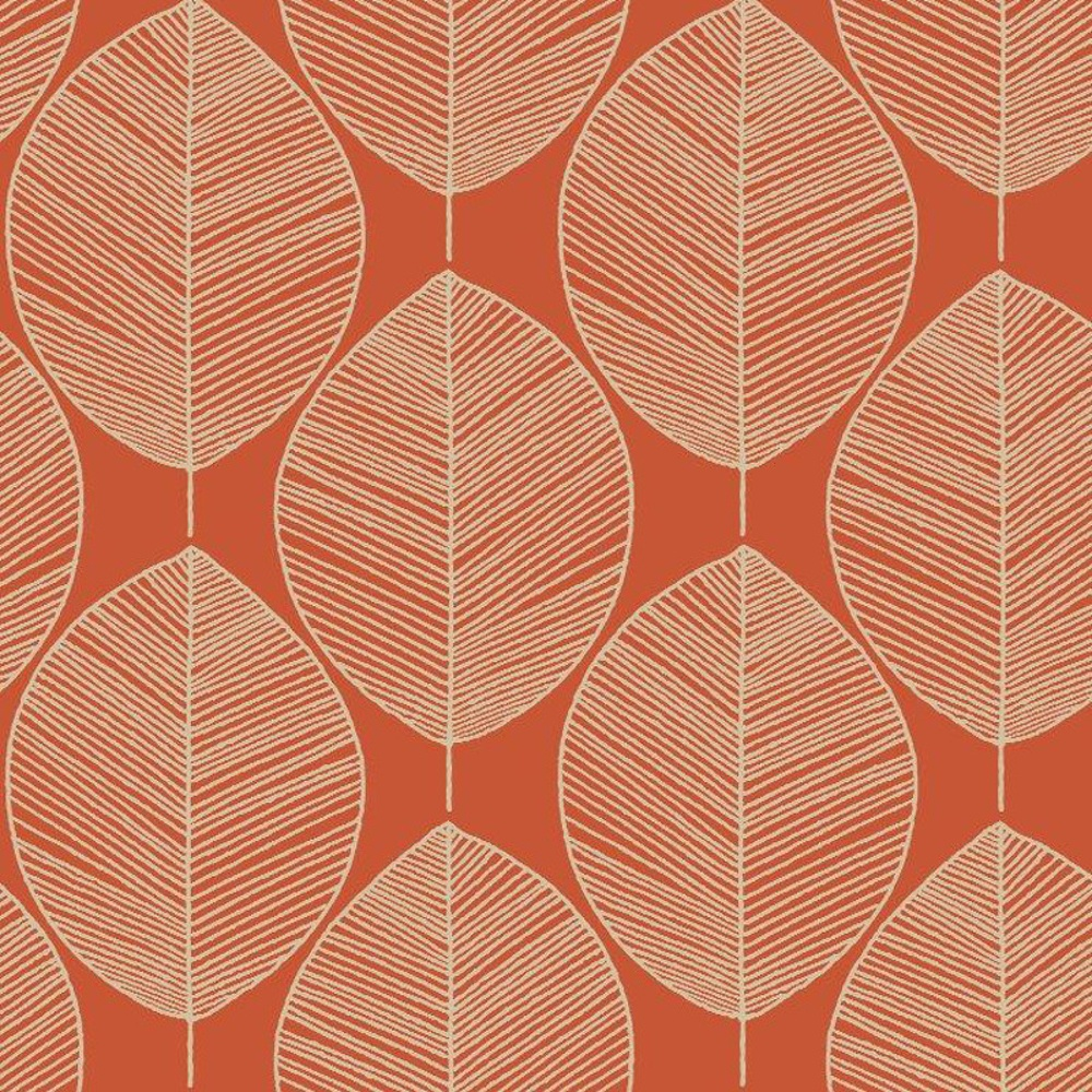 Arthouse retro leaf pattern leaves motif designer wallpaper 408208 - Papiers peints vintage ...